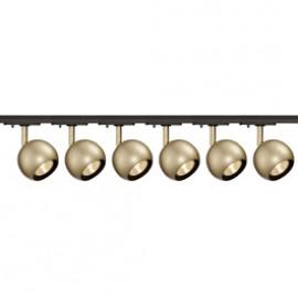 slv 144013tk6 light eye 1 gu10 spot 50w 6 light track kit brass black brass track lighting