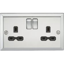 Decorative Switches and Sockets Polished Chrome