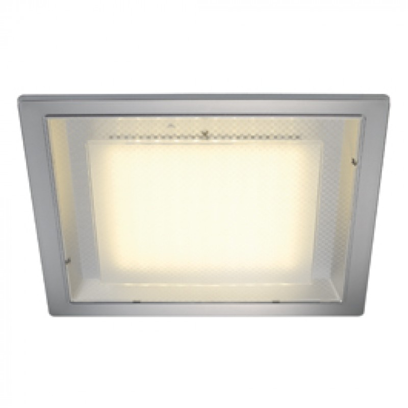 slv 160294 eco led square 10w 3000k silver grey downlight. Black Bedroom Furniture Sets. Home Design Ideas
