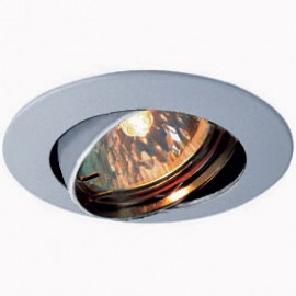 SLV 111179 Pika Adjustable 50W Silver Grey Downlight