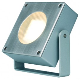 SLV 111522 Quadrasyl 44 Bracket 9W Silver Grey Outdoor Ceiling, Wall & Ground Light