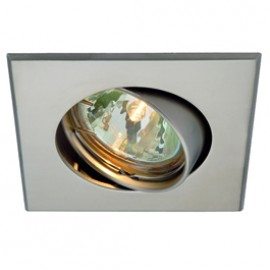 SLV 113217 GU10 SP Square 50W Titanium Downlight
