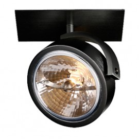 SLV 113400 Kalu Recessed 1 50W Black Ceiling & Wall Light