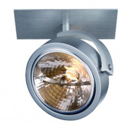 SLV 113406 Kalu Recessed 1 50W Brushed Aluminium Ceiling & Wall Light