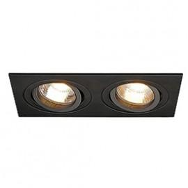 SLV 113482 New Tria 2 MR16 2x50W Black Downlight