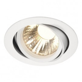 SLV 113571 New Tria LED Disk 12W 4000K 60 Degree White Downlight
