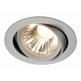SLV 113574 New Tria LED Disk 12W 4000K 60 Degree Silver Grey Downlight