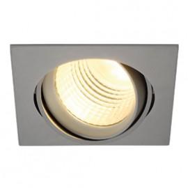 SLV 113714 New Tria DLMi Square LED 26W 4000K 60 Degree Silver Grey Downlight