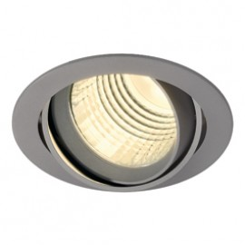 SLV 113734 New Tria DLMi Round LED 26W 4000K 60 Degree Silver Grey Downlight