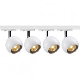 SLV 144011TK4 Light Eye 1 GU10 Spot 50W 4 Light Track Kit Chrome & White