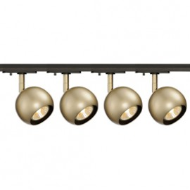 SLV 144013TK4 Light Eye 1 GU10 Spot 50W 4 Light Track Kit Brass & Black