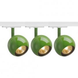 SLV 144015TK3 Light Eye 1 GU10 Spot 50W 3 Light Track Kit Fern Green & White