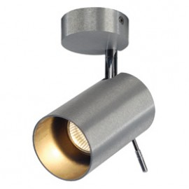 SLV 147421 Asto Tube 1 75W Brushed Aluminium Ceiling & Wall Light