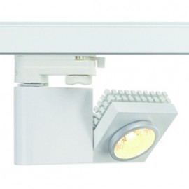 SLV 152901 Structec LED 10W 3000K 38 Degree White Eutrac 3 Circuit 240V Track Light