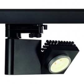SLV 152910 Structec LED 10W 3000K 60 Degree Black Eutrac 3 Circuit 240V Track Light