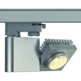 SLV 152914 Structec LED 10W 3000K 60 Degree Silver Grey Eutrac 3 Circuit 240V Track Light
