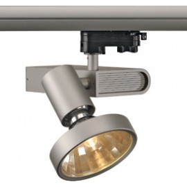 SLV 153664 Sleek Spot G12 70W 48 Degree Silver Grey Eutrac 3 Circuit 240V Track Light
