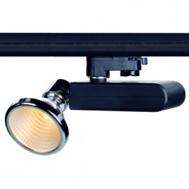 SLV 153710 D-Rection 35W GU6.5 Black & Chrome Eutrac 3 Circuit 240V Track Light