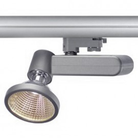 SLV 153714 D-Rection 35W GU6.5 Silver Grey Eutrac 3 Circuit 240V Track Light