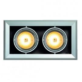 SLV 154022 Aixlight Mod 2 QRB111 2x50W Silver Grey Downlight