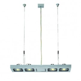SLV 154242 Aixlight Long GU10 4x50W Silver Grey Ceiling & Wall Light
