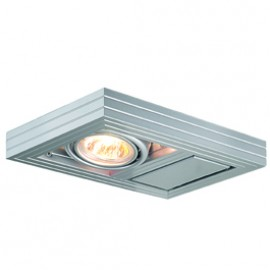 SLV 154292 Aixlight Kardaframe Wall GU10 50W Silver Grey Light