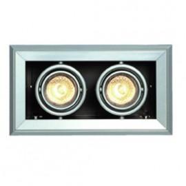 SLV 154562 Aixlight Mod 2 GU10 2x50W Silver Grey Downlight