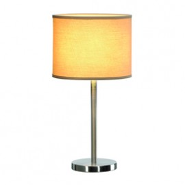 SLV 155353 Soprana TL-2 60W Brushed Metal & Beige Table Lamp