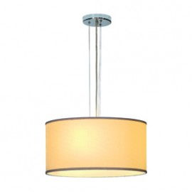 SLV 155432 Soprana PD-2 3x60W Chrome & Cream Pendant Ceiling Light