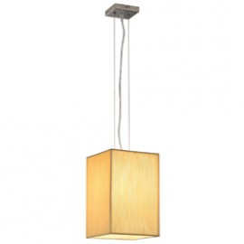 SLV 155481 Lasson PD-4 60W Chrome & Beige Pendant Ceiling Light