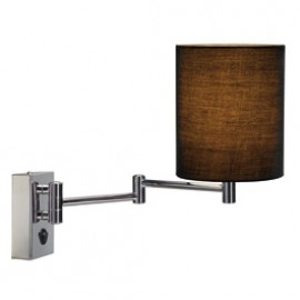 SLV 155620 Soprana WL-1 40W Chrome & Black Wall Light