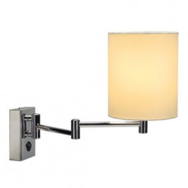 SLV 155621 Soprana WL-1 40W Chrome & White Wall Light