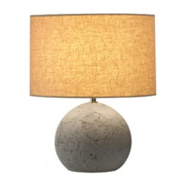 SLV 155700 Soprana Solid TL-1 40W Concrete Grey & Grey Beige Table Lamp