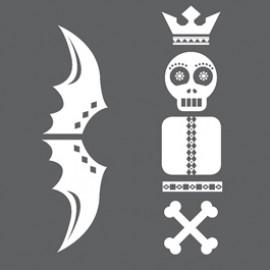 Intalite 155995 Sticker Totem Skull Accessory For Plaster Lights White