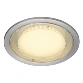 SLV 160284 Eco LED Round 7.5W 3000K Silver Grey Downlight