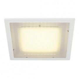 SLV 160291 Eco LED Square 10W 3000K White Downlight