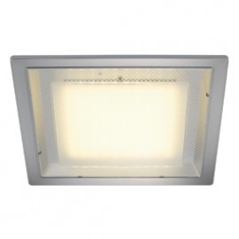 SLV 160294 Eco LED Square 10W 3000K Silver Grey Downlight