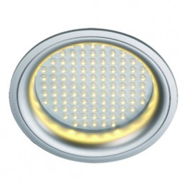 SLV 160382 LEDpanel Round 8W 3000K Silver Grey Downlight