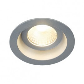 SLV 160634 Boost IP44 9W LED 3000K Silver Grey Downlight