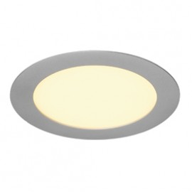 SLV 162504 Eco LED Panel Round 10W 3000K Silver Grey Downlight