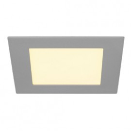SLV 162524 Eco LED Panel Square 12W 3000K Silver Grey Downlight