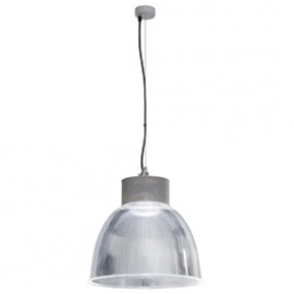 SLV 165211 Para Multi DLMi LED 14W 4000K Silver Grey Hi Bay Suspended Ceiling Light