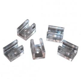SLV 211201 Fastening Clips For PVC LED Tube Transparant