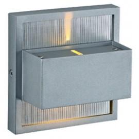 SLV 227252 Dacu Up-Down LED Beam 2x1W 2700K Silver Grey Wall Light