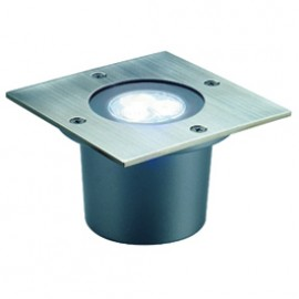 SLV 227421 Wetsy Power LED Square 3W 5700K Stainless Steel Outdoor Wall & Ground Light