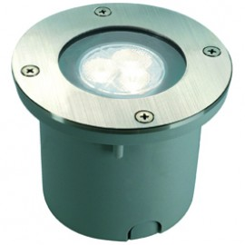SLV 227431 Wetsy Power LED Round 3W 5700K Stainless Steel Outdoor Wall & Ground Light