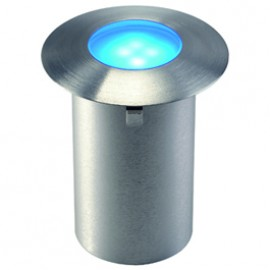 SLV 227467 Trail-Light Satin LED 0.3W Blue Stainless Steel Outdoor Wall & Ground Light