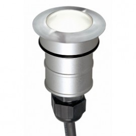 SLV 228331 Power Trail-Lite Round LED 1W 6500K Stainless Steel Outdoor Wall & Ground Light