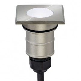 SLV 228341 Power Trail-Lite Square LED 1W 6500K Stainless Steel Outdoor Wall & Ground Light