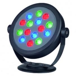 SLV 229453 Keto RGB LED Round 15W Black Outdoor Ceiling, Wall & Ground Floodlight